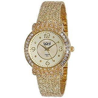 Burgi-Damen-Luxus-Analog-Quarz-Uhr-mit-Metall-Armband