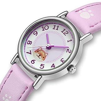 CIVO-Mdchen-Kinder-Jugendliche-Uhren-Wasserdicht-Sport-Outdoor-Lernuhr-Leder-Einfach-Armbanduhr-Analog-Quarz-Outdoor-Modisch-Mode-Coole-Rosa-Uhr-fr-Kinder