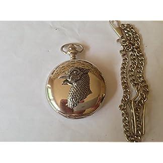 B29-Fasan-s-Head-poliert-Silber-Fall-Herren-Geschenk-Quarz-Taschenuhr-hergestellt-in-Sheffield