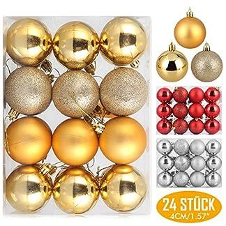 Zogin-Weihnachtskugeln-Dekoration-Baumkugeln-Christbaumkugeln-Saisonale-Deko-Baumschmuck-rot-Silber-Gold-4cm-6cm-8cm-mit-Anhnger-fr-Weihnachten-Xmas-Christmas