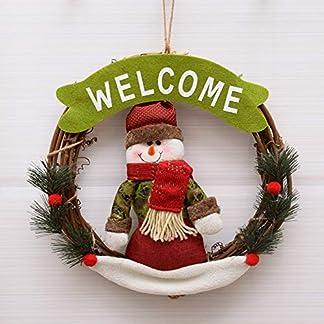 ZXPAG-Weihnachtskranz-Dekokranz-Wandkranz-Krnze-Weihnachten-Kranz-Rattan-Ring-Plsch-fr-Tr-und-Fenster