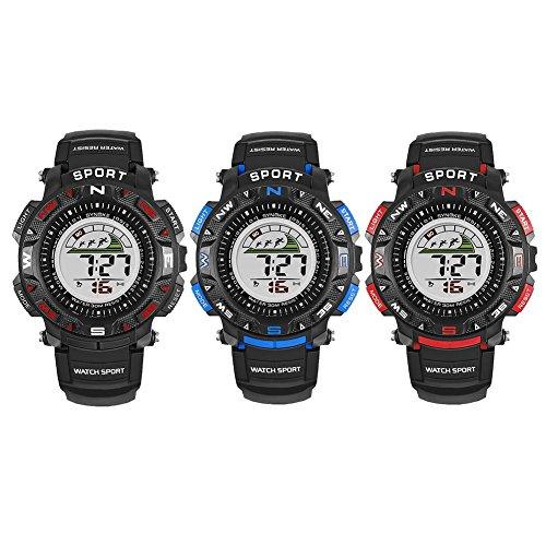 Domybest-Herren-elektronische-digitale-Sport-Alarm-tglich-wasserdicht-leuchtende-Teen-Uhren