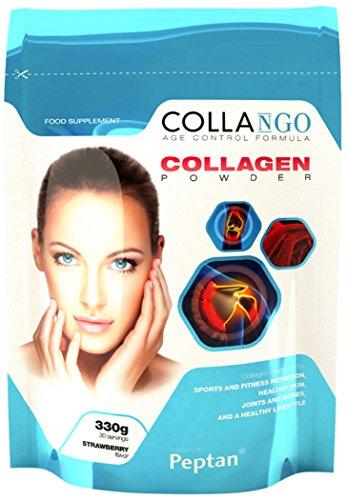 Collango Kollagen Hydrolisat Protein Pulver, Erdbeergeschmack, 330g, 30 Portionen