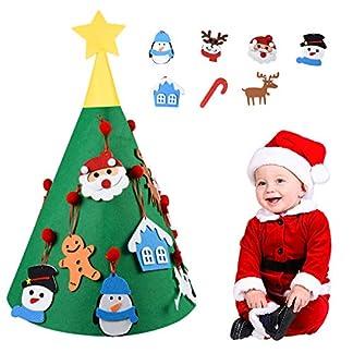 Bermunavy-Weihnachtsbaum-Filz-3D-Tannenbaum-mit-17-abnehmbaren-Ornamenten-fr-Kinder-Weihnachtsdekoration-Geschenke-Heimdekoration