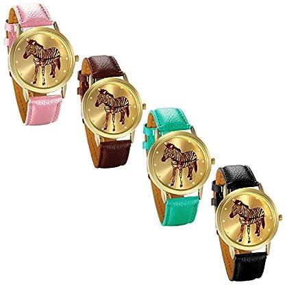 JewelryWe-Damen-Armbanduhr-Fashion-Analog-Quarz-Zebra-Elegant-Casual-Uhr-Modisch-Zeitloses-Design-mit-Leder-Armband-Farbe-Pink-Braun-Grn-Schwarz