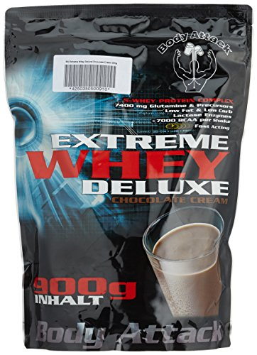 Body Attack Extreme Whey Deluxe, Chocolate Cream, 900g Beutel