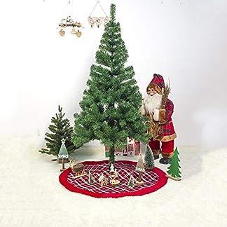 Beesuya-2019-Rot-Weihnachtsbaumrock-Karierter-Weihnachtsbaum-Rock-Weihnachtsbaumdecke-Baumdecke-Christbaumstnder-Decke-Weihnachtsschmuck-Weihnachtsdeko-100CM-popular