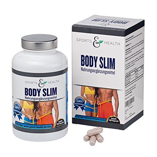 Body Slim Kapseln – Abnehmen mit Glucomannan und Acai – Erfolg Belegt – Bonus: 10 Vital Shake Rezepte Gratis – Abnehmpillen – Made in Germany