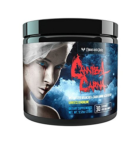Chaos and Pain Cannibal CARNA 270g – 11 Aminosäuren – 30 Servings BCAA 8:1:1 (Lawless Lemonlime)