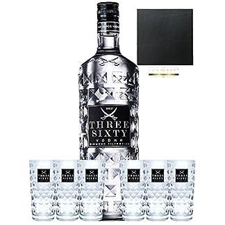 Three-Sixty-Vodka-30-Liter-6-Three-Sixty-Diamant-Glser-Schieferuntersetzer