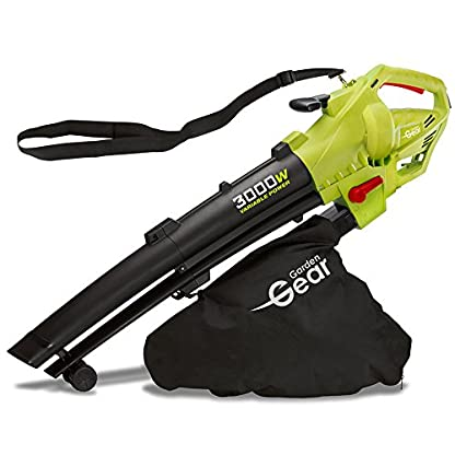 Garden-Gear-Laubsauger-Shredder-Mulcher-elektrisch-3-in-1-variable-Geschwindigkeit-mit-groer-45L-Kapazitt-Sammelbeutel-10-1-Shredding-Ratio-10m-Kabel-3000W