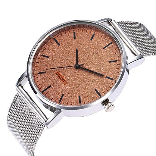 Godagoda-Herrenuhr-Analog-Quarz-Armbanduhr-Elegant-Einfach-Casual-Mode-mit-Silber-Edelstahl-Armband-und-Batterie-Uhr