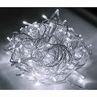 48er-LED-Strom-Lichterkette-fr-auen-Lichtfarbe-kaltweiss-Kabel-transparent
