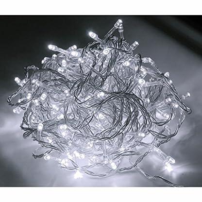48er-LED-Strom-Lichterkette-fr-auen-Lichtfarbe-kaltweiss-Kabel-transparent