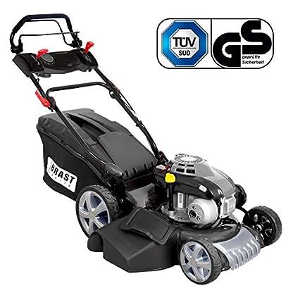BRAST-Benzin-Rasenmher-incl-Selbstantrieb-25kW-34PS-variable-Antriebs-Geschwindigkeit-GT-Getriebe-Motormher-Mher-Benzinmher-Trimmer-kugelgelagerte-Big-Wheeler-Rder-Stahlblechgehuse-Easy-Clean-46cm-Sch