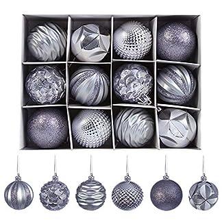Yhomie-Weihnachtskugeln-12-Stcke-Christbaumkugeln-Fr-Weihnachtsbaum-Weihnachtsbaum-Dekoration-Groe-Hngende-Kugel-Geprgte-Fertige-Anhnger-Baumschmuck