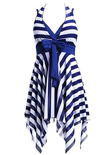 OUO Bademode Damen Einteiler Tankini Größe Größen Badebekleid Badeanzug bauchweg