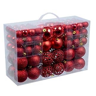 100-Weihnachtskugeln-Rot-glnzend-glitzernd-matt-Christbaumschmuck-bis–6-cm-Baumschmuck-Weihnachten-Deko-Anhnger