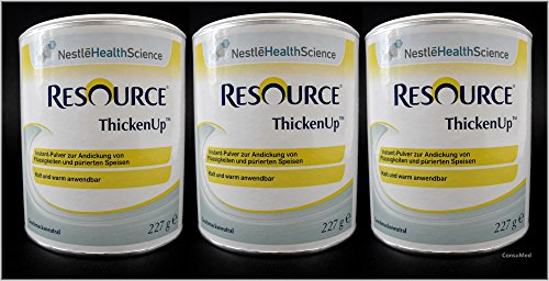 3x 227g ThickenUp von Nestle Health Science Andickungsmittel – Andickungspulver – im exclusiven ConsuMed Bundle