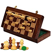 AB-hadicrafts-10×10-Zoll-Schach-Set-Magnetic-Folding-Chess-Game-Edelholz-klassische-handgemachte-Standard-Staunton-ultimative-Turnier-Palisander-Schachbrett