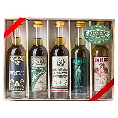 Absinth-Tasting-Set-mit-Premium-Absinth-von-ALANDIA-5-x-50-ml68-Vol