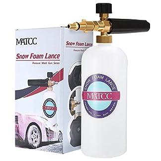 MATCC-Schaumdse-1L-Schaumlanze-Messing-Dse-Schneeschaum-Schaumpistole-Hochdruckreiniger-Snow-Foam-Autowsche-Gun-Fr-Nilfisk-C130-E130-E140