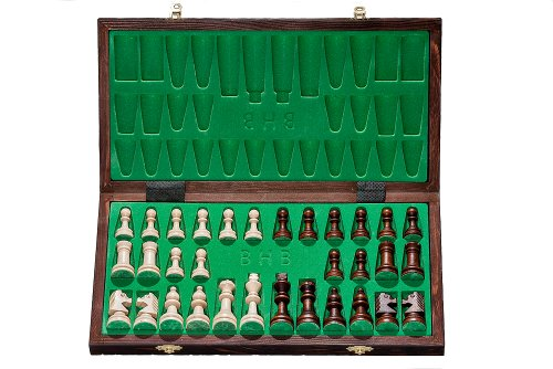 Brand-New-Hand-Crafted-Tournament-76-Wooden-Chess-Set-39cm-x-39cm