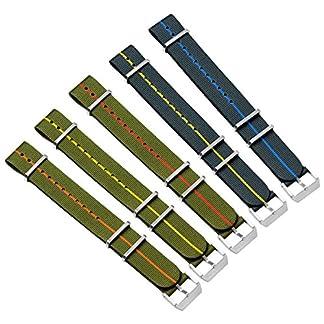 Uhrenarmband-ZULUDIVER-Nylon-NATO-Schnalle-Gebrstet-20mm-22mm