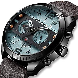 Herren-Uhr-Mnner-Militr-Chronographen-Wasserdicht-Sport-Groe-Designer-Braun-Leder-Armbanduhren-Mann-Business-Modisch-Datum-Grau-Analoge-Uhren