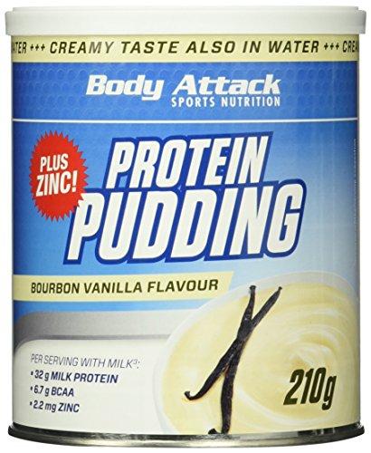 Body Attack Protein Pudding, Vanilla, 210g Dose
