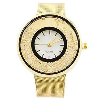 MJartoria-Damen-Armbanduhr-Quarz-Uhr-Modeschmuck-Milanaiseband-Mode-Design-mit-Strass-Silber-Rosegold-Gold-Farbe-123pcs