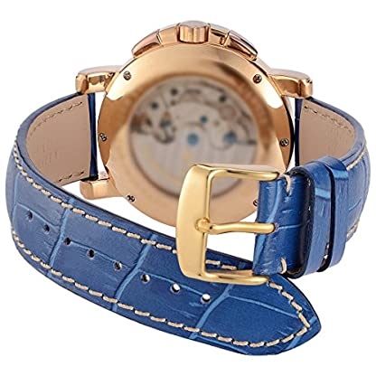 WOCCI-Schnellverschluss-Alligator-Geprgtes-Uhrenarmband-mit-Schnalle-Gold-Ersatz-Zubeh
