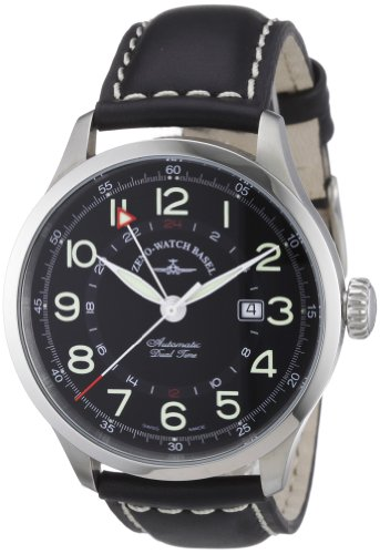 Zeno-Watch-Basel-Herren-Armbanduhr-XL-Retro-Tre-Analog-Automatik-Leder-6302GMT-a1