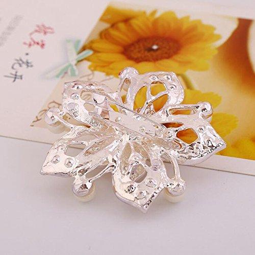Hosaire 1 Stück Damen Brosche Mode Kreativ Perle Blume Form Frau Broschen