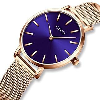 CIVO-Damen-Uhren-Ultra-Dnn-Silm-Minimalistisch-Damenuhr-Wasserdicht-Kleid-Armbanduhren-Luxus-Beilufig-Edelstahl-Mesh-Quarzuhr-fr-Frau-Lady-Teenager-Mdchen
