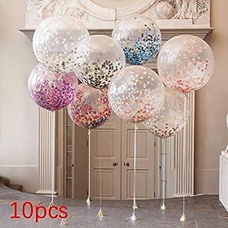 Leoboone-10-Stck-Multicolor-Konfetti-Ballon-Papierlaterne-wnscht-Laternen-fr-Geburtstagsfeier-Hochzeitsdekor-transparent-klar-Ballon