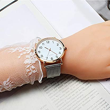 MJARTORIA-Herren-Analog-Quarzuhr-Silber-Mesh-Edelstahl-Armband-Rosegold-Farbe-Gehuse-Blau-Zifferblatt-Uhr-Mnner-Business-Armbanduhr-Geschenk