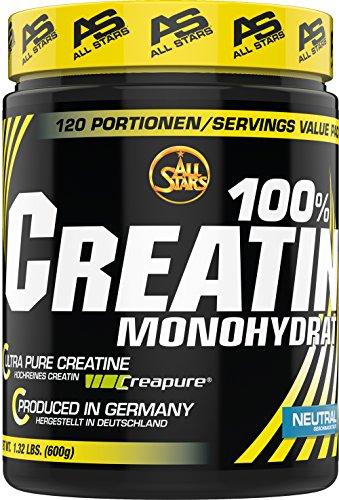 All Stars 100% Creatin Monohydrat Pulver, 1er Pack (1 x 600 g)