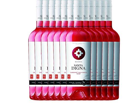 12er-Paket-Santa-Digna-Ros-Cabernet-Sauvignon-Reserva-2017-Miguel-Torres-Chile-trockener-Roswein-chilenischer-Sommerwein-aus-dem-Valle-Central-12-x-075-Liter