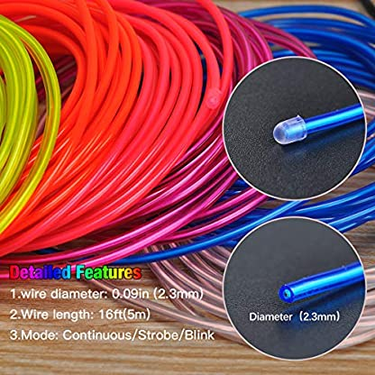 EL-Wire-Songway-5-1-M-Draht-Neon-Leuchtschnur-EL-Kabel-euchtkabel-Neon-Wire-Leuchtende-Strobing-Elektrolumineszenz-mit-3-Modes-fr-Halloween-Weihnachtsfeiern-und-Partybeleuchtung