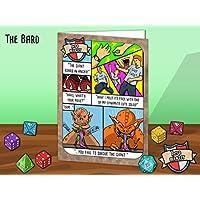 Geek-Humour-Grukarte-Mit-einem-Fantasy-RPG-Parodie-Thema-basiert-auf-die-Bard-Charakter-Fr-Weihnachten-Geburtstag-Karten-oder-nur-weil-Fr-Gamer-Spiel-Fans-und-Diejenigen-die-lieben-Drachen-und-Dungeon