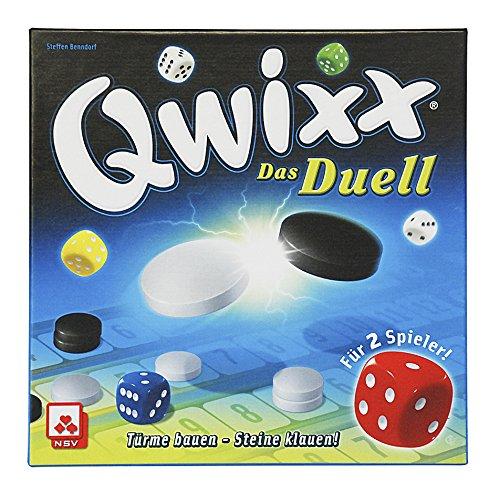 NSV-4042-QWIXX-DAS-DUELL-Taktikspiel-fr-2-Spieler-Wrfelspiel