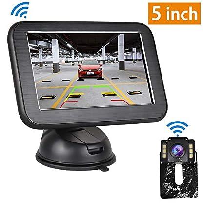 Rckfahrkamera-und-Monitor-Set-Directtyteam-Wireless-Einparkhilfe-5-Zoll-TFT-LCD-Rear-View-Monitor-und-IP68-wasserdichte-AutoKamera-fr-Rckfahrhilfe