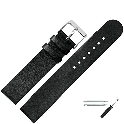 MARBURGER-Uhrenarmband-18mm-Leder-Schwarz-Uhrband-Set-2721810000120