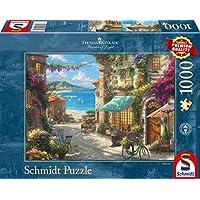 Schmidt-Spiele-Puzzle-59624-Thomas-Kinkade-Caf-an-der-italienischen-Riviera-1000-Teile-Puzzle-bunt