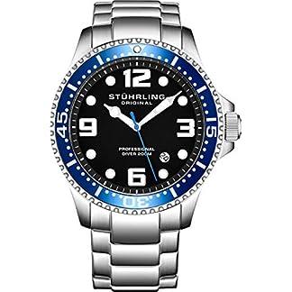 Stuhrling-Original-Herren-Armbanduhr-Pro-Diver-aus-Edelstahl-Schweizer-Quarz-analog-Tauchuhr