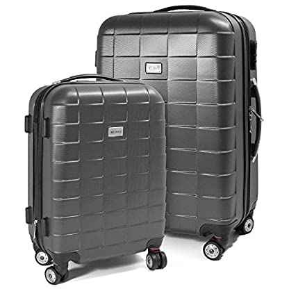 BERWIN-Kofferset-M-L-2-teilig-Reisekoffer-Trolley-Hartschalenkoffer-ABS-Teleskopgriff-Modell-Squares