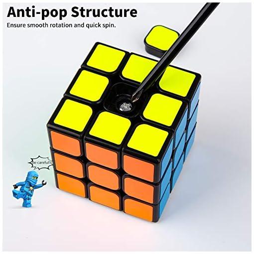Buself-Zauberwrfel-Speed-Cube-3X3-Magic-CubeDreht-Sich-schneller-und-prziser-als-der-Original-Super-robust-mit-lebendigen-Farben