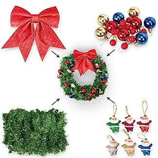 Glcksmeer-Weihnachtskranz-Party-Dekoration-Vordertr-Girlande-Weihnachten-Winter-Wunderland-Urlaub-Themen-Zubehr-hngend-DIY-Ornamente-Beeren-Weihnachtsmann-Blle-Schleife-zerlegt
