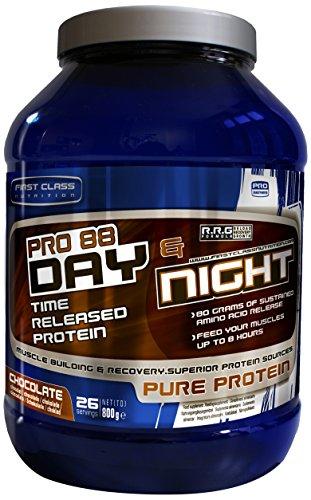 First-Class Nutrition PRO88 Day und Night Protein Chocolate – 8 Stunden mit langsamer Freisetzung, hochwertiges eiweiss, 1er Pack (1 x 800 g)